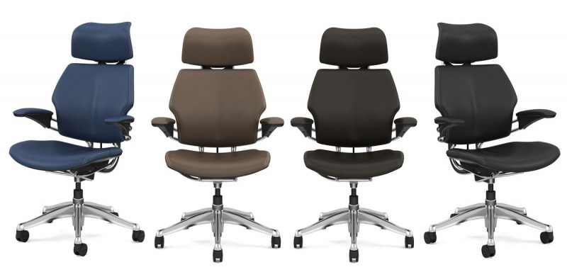 Humanscale Leather Freedom Chair with Headrest
